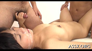 anal asian trio Girl is having enjoyment engulfing a hard willy